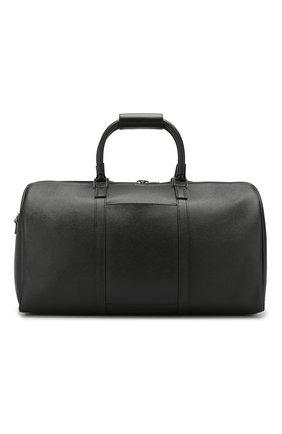 Мужская кожаная дорожная сумка evoluzione SERAPIAN черного цвета, арт. SEV0LMTR2806M50F | Фото 1