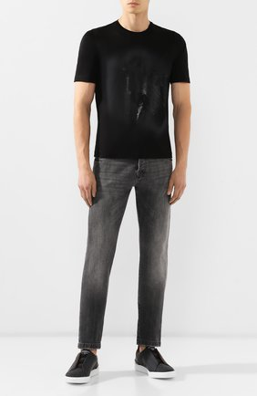Мужские комбинированные кеды ZEGNA COUTURE черного цвета, арт. A2511X-LHGFL | Фото 2