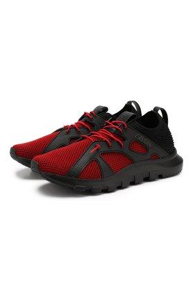 Мужские текстильные кроссовки Z ZEGNA красного цвета, арт. A4300X-LHTPU | Фото 1