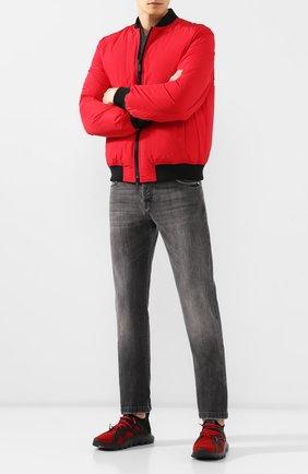 Мужские текстильные кроссовки Z ZEGNA красного цвета, арт. A4300X-LHTPU | Фото 2