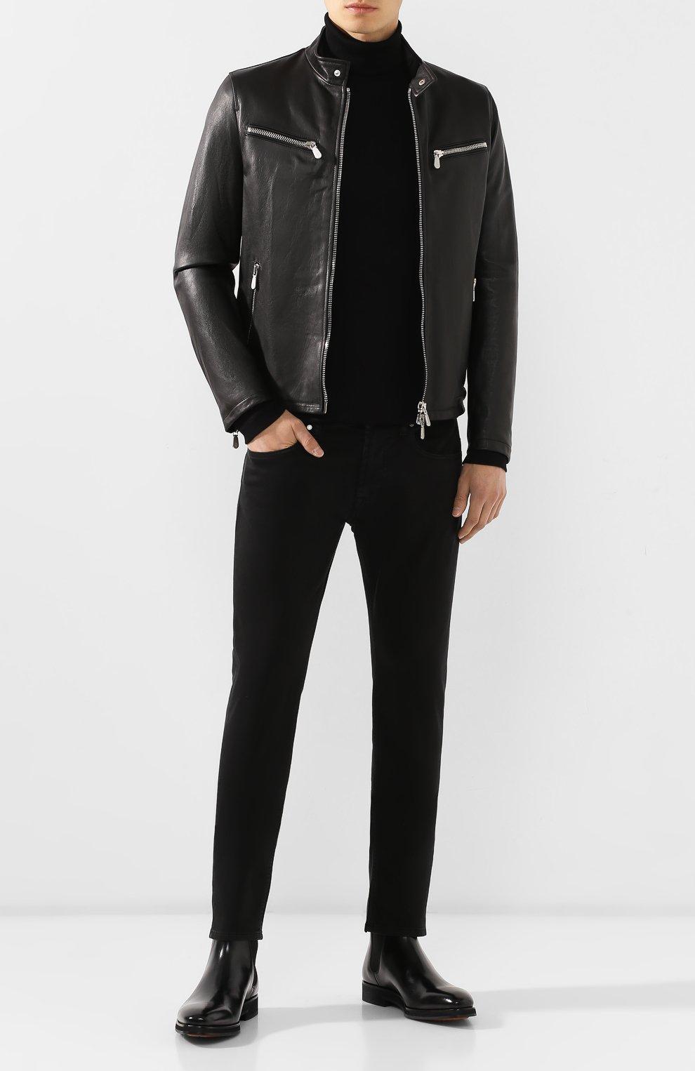 Мужские джинсы 7 FOR ALL MANKIND черного цвета, арт. JSU6V830BL   Фото 2
