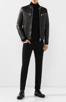 Мужские джинсы 7 FOR ALL MANKIND черного цвета, арт. JSU6V830BL | Фото 2