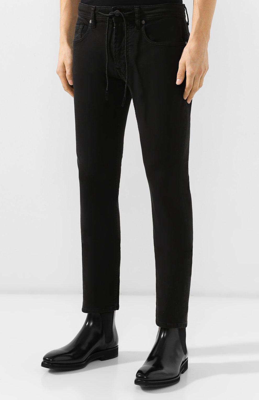 Мужские джинсы 7 FOR ALL MANKIND черного цвета, арт. JSU6V830BL   Фото 3
