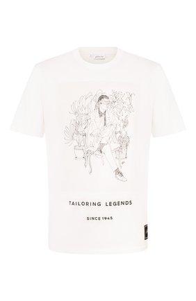 Мужская хлопковая футболка BRIONI белого цвета, арт. UJCH0L/08630   Фото 1