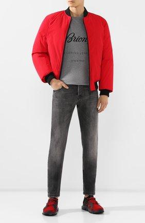 Мужская хлопковая футболка BRIONI серого цвета, арт. UJCH0L/08628 | Фото 2