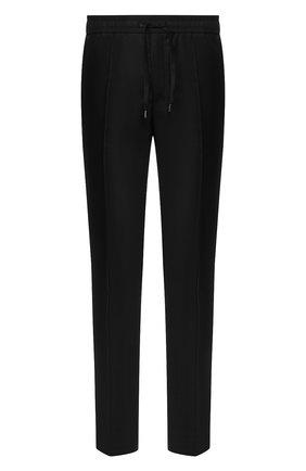 Мужские шерстяные брюки BRIONI черного цвета, арт. RPM10L/0ZA0K/SIDNEY | Фото 1