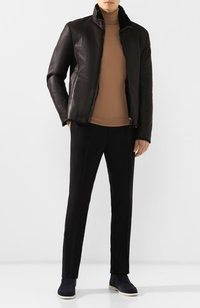 Мужские шерстяные брюки BRIONI черного цвета, арт. RPM10L/0ZA0K/SIDNEY | Фото 2