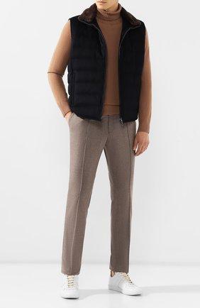 Мужской брюки из смеси шерсти и кашемира BRIONI серого цвета, арт. RPM10L/08AB3/SIDNEY | Фото 2