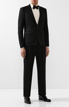Мужская хлопковая сорочка GUCCI белого цвета, арт. 581432/Z3599 | Фото 2 (Материал внешний: Хлопок; Длина (для топов): Стандартные; Статус проверки: Проверено; Рукава: Длинные)