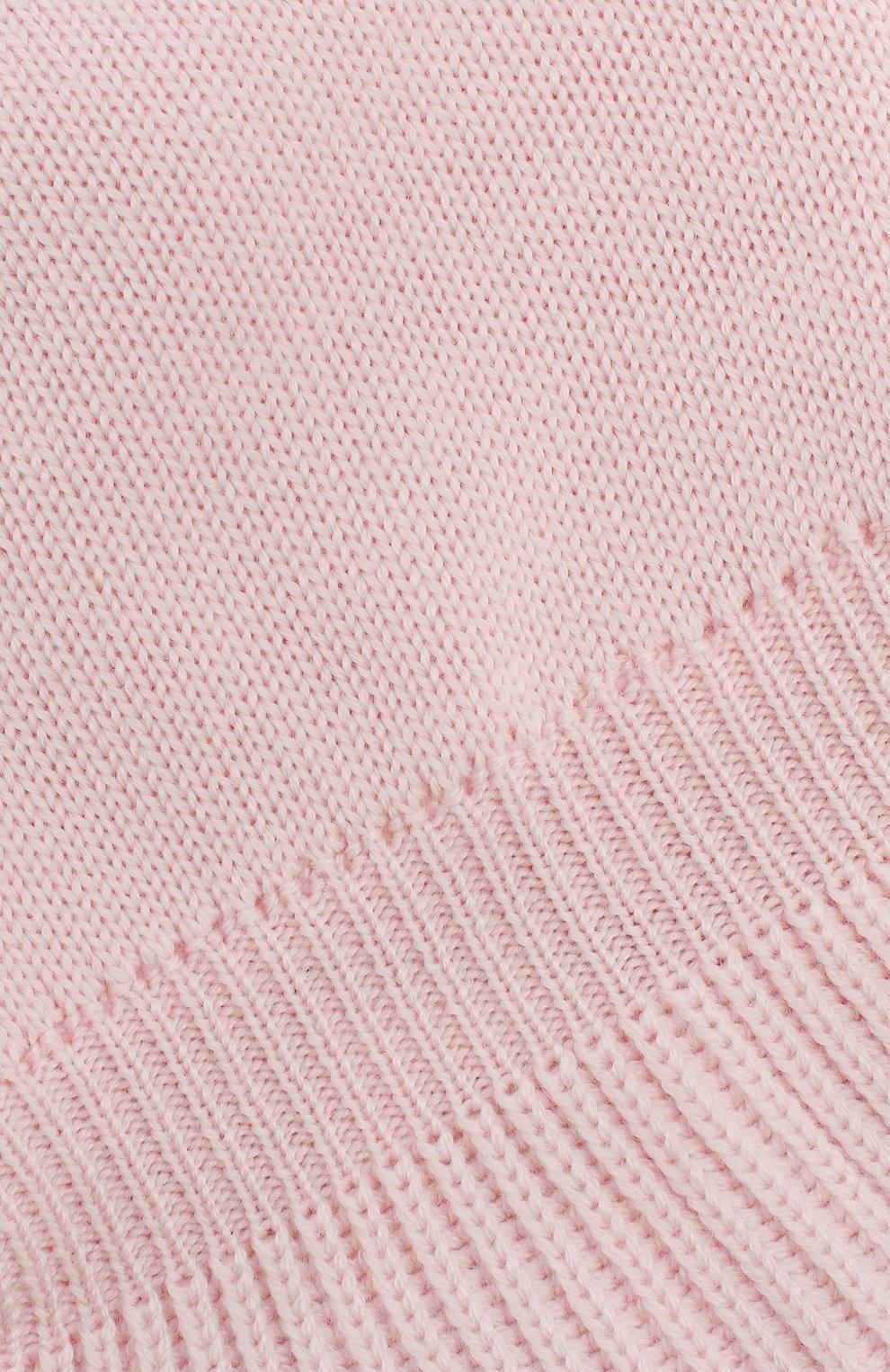 Детского шерстяная шапка-балаклава IL TRENINO светло-розового цвета, арт. 18 4115/E2   Фото 3
