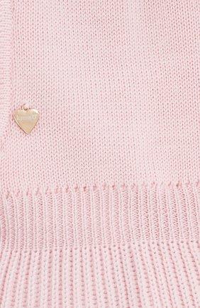 Детского шерстяная шапка-балаклава IL TRENINO светло-розового цвета, арт. 18 4115/E0 | Фото 3