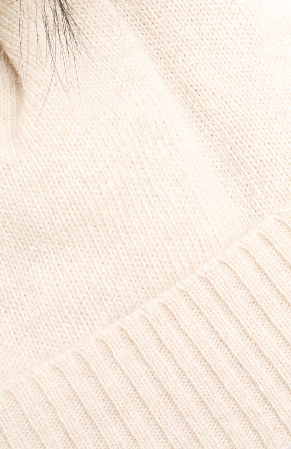 Детского шапка из шерсти и кашемира IL TRENINO бежевого цвета, арт. 15 8637/E0 | Фото 3