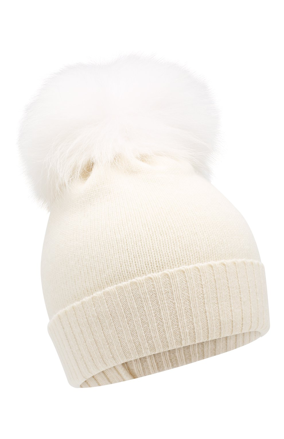 Детского шапка из шерсти и кашемира IL TRENINO белого цвета, арт. 15 8637/E0 | Фото 1