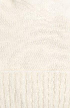 Детского шапка из шерсти и кашемира IL TRENINO белого цвета, арт. 15 8637/E0 | Фото 3