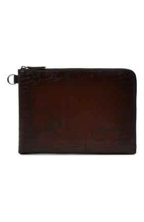 Мужская кожаная папка для документов BERLUTI светло-коричневого цвета, арт. M190161 | Фото 1