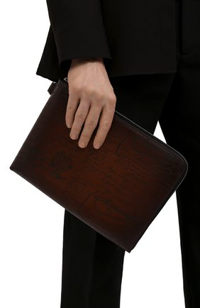 Мужская кожаная папка для документов BERLUTI светло-коричневого цвета, арт. M190161 | Фото 2