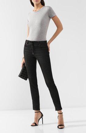 Женская хлопковая футболка DOLCE & GABBANA серого цвета, арт. F8H32T/G7TLC | Фото 2