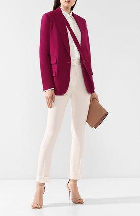 Женские шерстяные брюки STELLA MCCARTNEY бежевого цвета, арт. 543857/SNB77   Фото 2