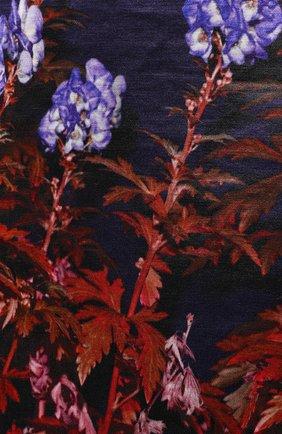 Женская юбка из смеси хлопка и вискозы DRIES VAN NOTEN темно-синего цвета, арт. 192-30815-8401   Фото 5