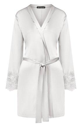 Женский шелковый халат COTTON CLUB серого цвета, арт. 6VB | Фото 1