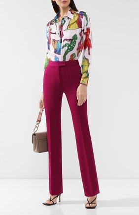 Женские шерстяные брюки STELLA MCCARTNEY фиолетового цвета, арт. 571968/SHB55 | Фото 2