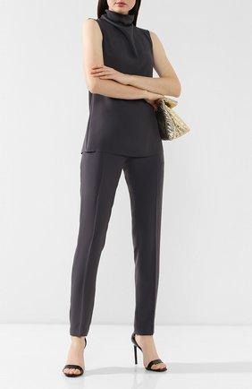 Женские брюки со стрелками DRIES VAN NOTEN серого цвета, арт. 192-10905-8322 | Фото 2