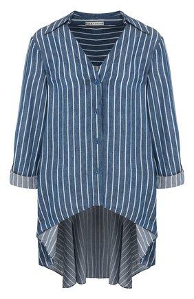 Рубашка из смеси вискозы и льна | Фото №1
