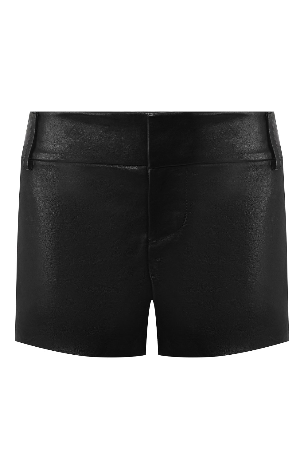 Женские кожаные шорты ALICE + OLIVIA черного цвета, арт. C000133102 | Фото 1