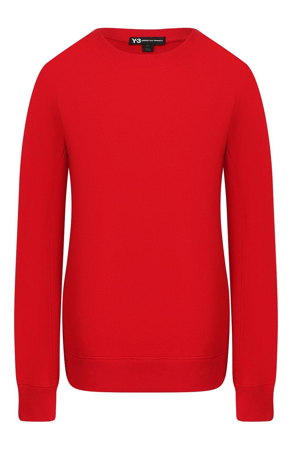 Женский хлопковый свитшот Y-3 красного цвета, арт. FJ0352/W   Фото 1