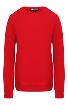 Женский хлопковый свитшот Y-3 красного цвета, арт. FJ0352/W | Фото 1