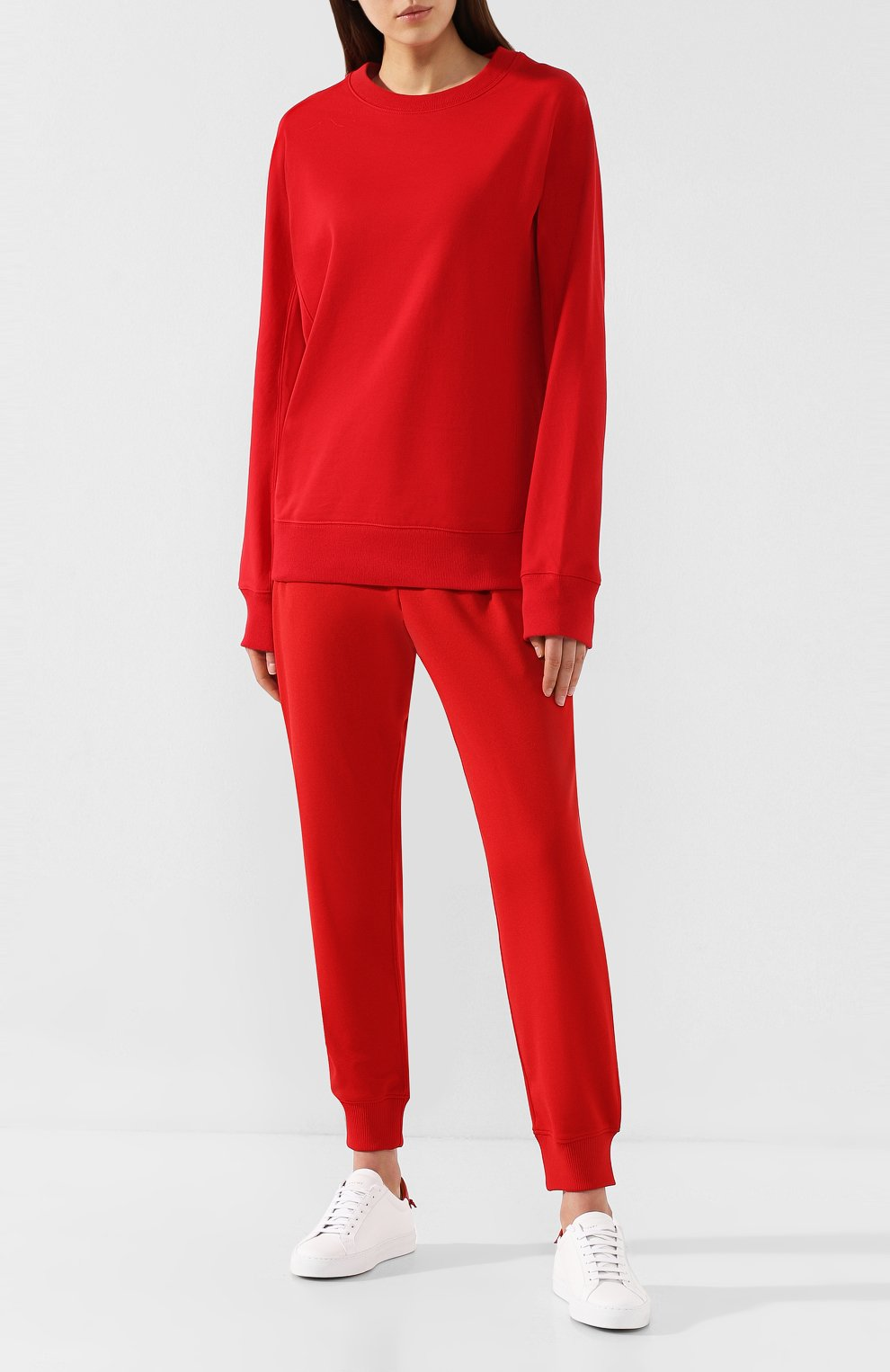 Женский хлопковый свитшот Y-3 красного цвета, арт. FJ0352/W   Фото 2