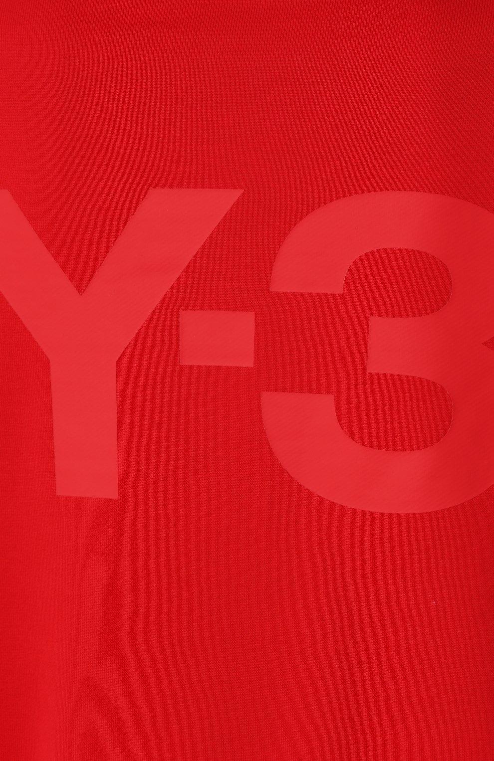 Женский хлопковый свитшот Y-3 красного цвета, арт. FJ0352/W   Фото 5