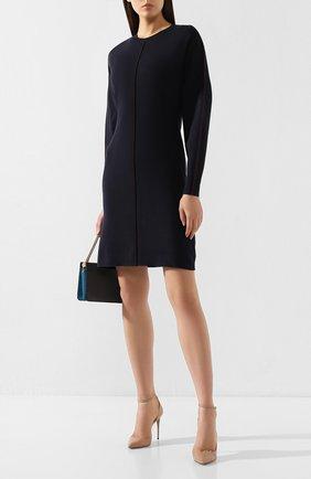 Женское платье VICTORIA, VICTORIA BECKHAM темно-синего цвета, арт. KDVV 040 PAW19 VISC0SE BLEND | Фото 2