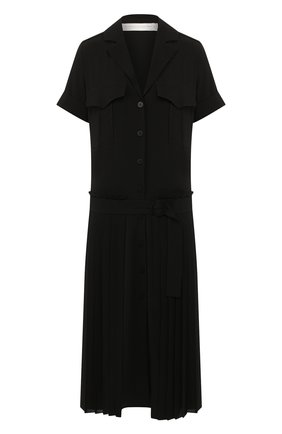Женское платье-миди VICTORIA, VICTORIA BECKHAM черного цвета, арт. DRVV 677 PAW19 TEXTURED CREPE | Фото 1