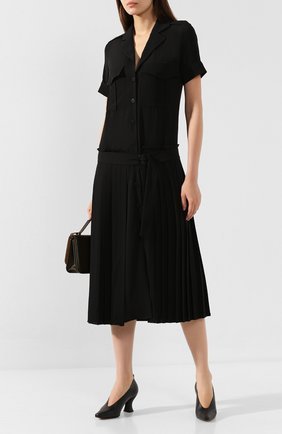 Женское платье-миди VICTORIA, VICTORIA BECKHAM черного цвета, арт. DRVV 677 PAW19 TEXTURED CREPE | Фото 2