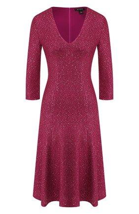 Женское платье ST. JOHN фиолетового цвета, арт. K12W083 | Фото 1