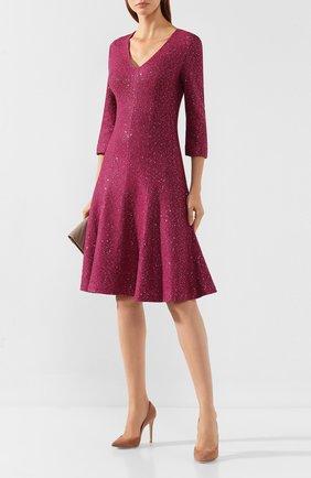 Женское платье ST. JOHN фиолетового цвета, арт. K12W083 | Фото 2