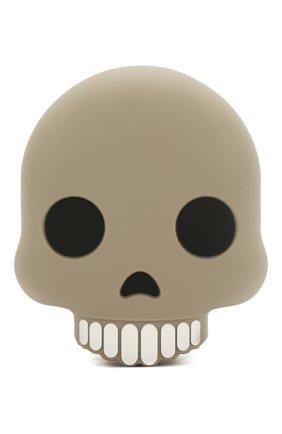 Мужского портативный аккумулятор skull MOJI POWER серого цвета, арт. MP001SK | Фото 1