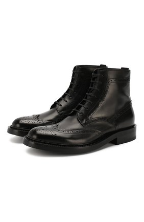 Женские кожаные ботинки army SAINT LAURENT черного цвета, арт. 587463/1G700 | Фото 1