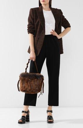 Женская текстильная сумка DRIES VAN NOTEN коричневого цвета, арт. 192-31514-251 | Фото 2