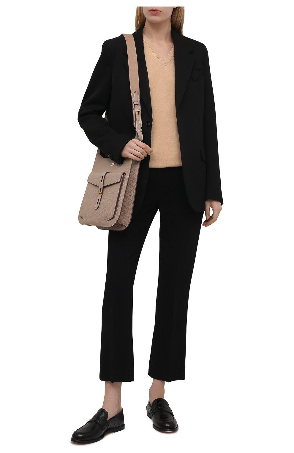 Женские кожаные пенни-лоферы LOEWE черного цвета, арт. 453.29.237 | Фото 2