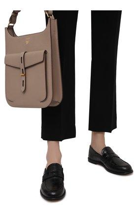 Женские кожаные пенни-лоферы LOEWE черного цвета, арт. 453.29.237 | Фото 3