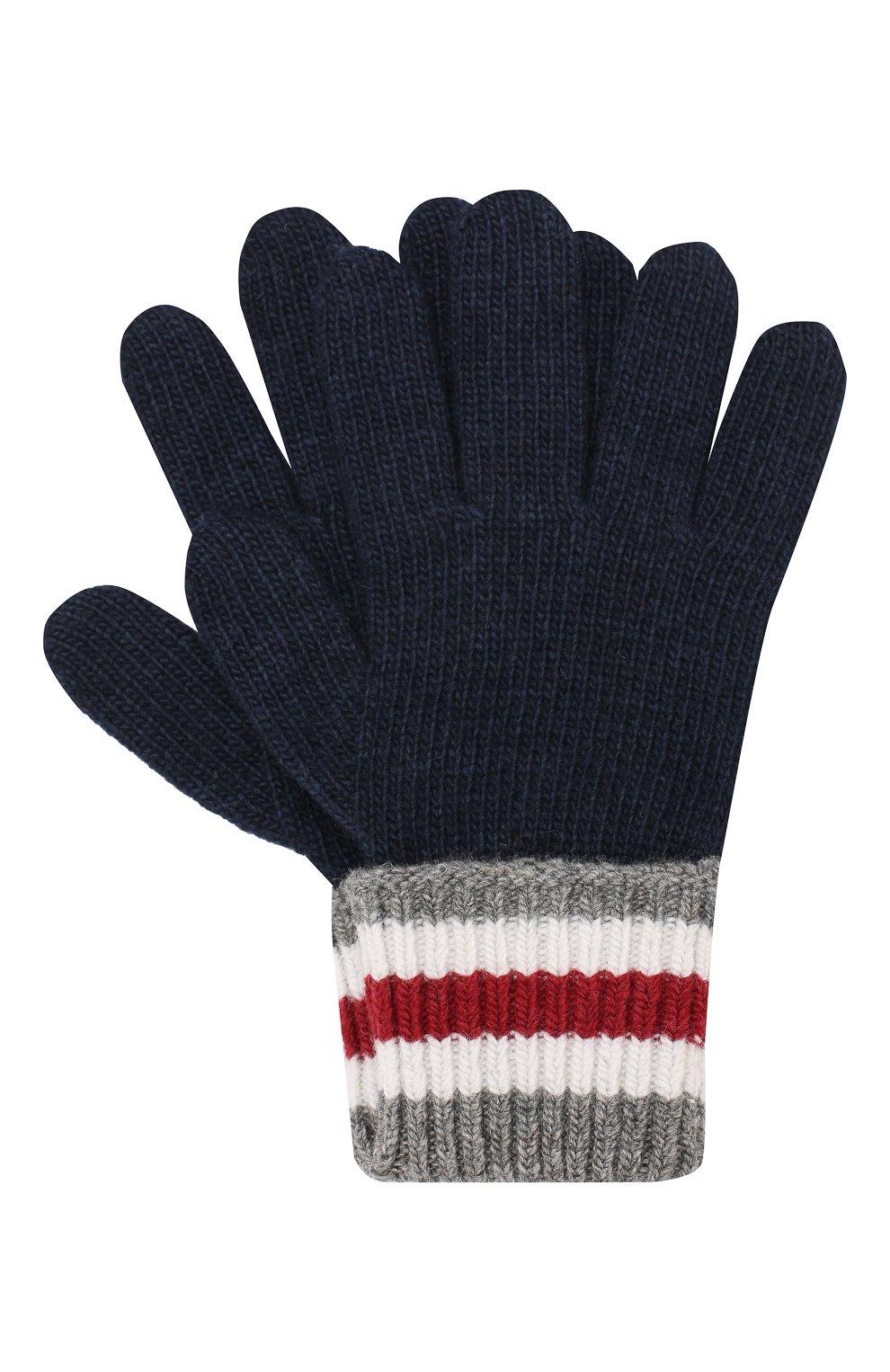 Детские перчатки DOLCE & GABBANA темно-синего цвета, арт. LBKA22/JAMC8 | Фото 1