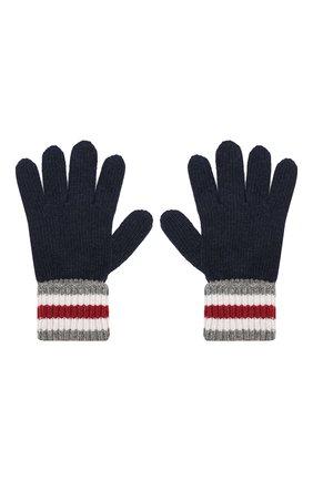Детские перчатки DOLCE & GABBANA темно-синего цвета, арт. LBKA22/JAMC8 | Фото 2