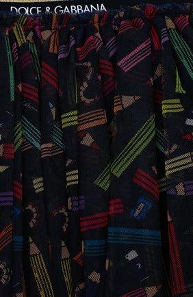 Детская юбка DOLCE & GABBANA темно-синего цвета, арт. L53I30/HSMGZ/2-6 | Фото 3