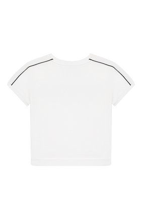 Детский хлопковая футболка BURBERRY белого цвета, арт. 8013994 | Фото 2