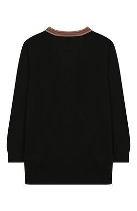 Детский шерстяной кардиган BURBERRY черного цвета, арт. 8013700 | Фото 2