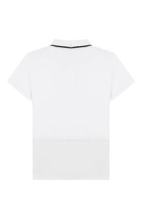 Детское хлопковое поло BURBERRY белого цвета, арт. 8013597 | Фото 2