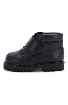 Детские кожаные ботинки с меховой отделкой GALLUCCI синего цвета, арт. T00234BM/SC S S G0M RAM/VIT | Фото 2