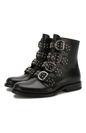 Детские кожаные ботинки GALLUCCI черного цвета, арт. J30064AM/TR P V CUG VSA | Фото 1